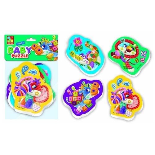 Купить Пазлы мягкие Baby Puzzle Чудо зоопарк 4 картинки, 12 эл. Vladi Toys VT1106-60