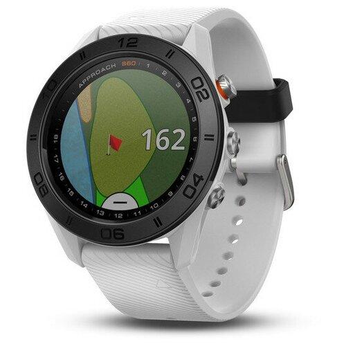 Часы для гольфа Garmin Approach S60 Golf Watch (White with White Band) 010-01702-01