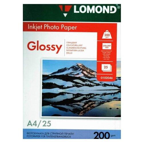 Фото - Фотобумага Lomond А4 200g/m2 глянцевая односторонняя 25 листов 102046 фотобумага lomond a3 230g m2 глянцевая односторонняя 50 лист
