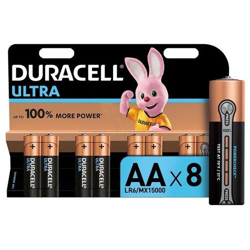 Фото - Батарейки DURACELL ULTRA AA/LR6-8BL батарейки duracell размера aa 60 шт