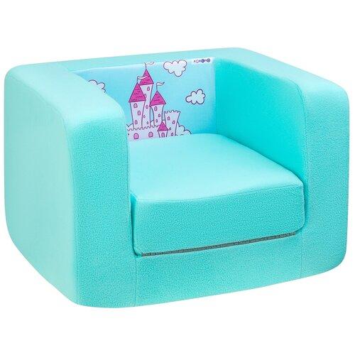 Кресло-кровать PAREMO детское PCR320 Дрими Замок размер: 52х45 см, обивка: ткань, цвет: аквамарин/роуз