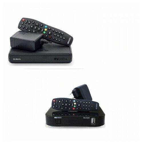 Триколор Комплект ресиверов Триколор на два телевизора GS B623L/C592 (тариф Ultra HD)