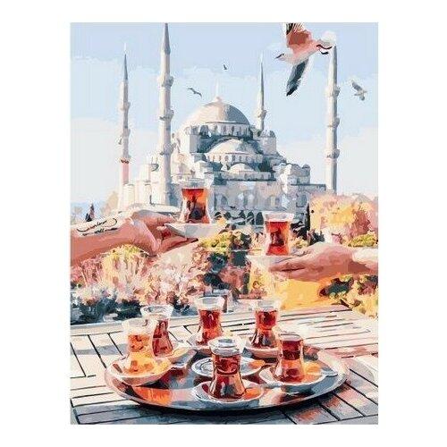 Купить Картина по номерам на холсте Paintboy Чаепитие в Стамбуле , 40х50 см, GX-34798, Картины по номерам и контурам