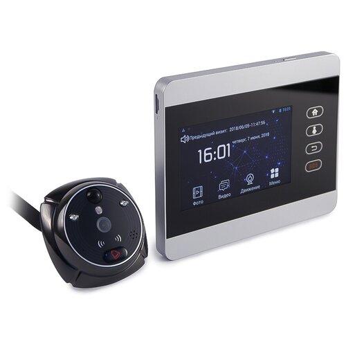 IHome-5 - видеоглазок с датчиком, видеоглазок в металлическую дверь, gsm дверной видеоглазок - видеоглазок датчик движения