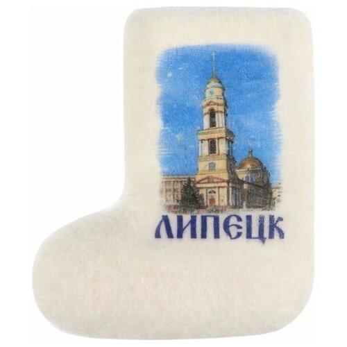 Магнит-валенок из войлока «Липецк. Христорождественский собор», 4 х 6 см 2171989