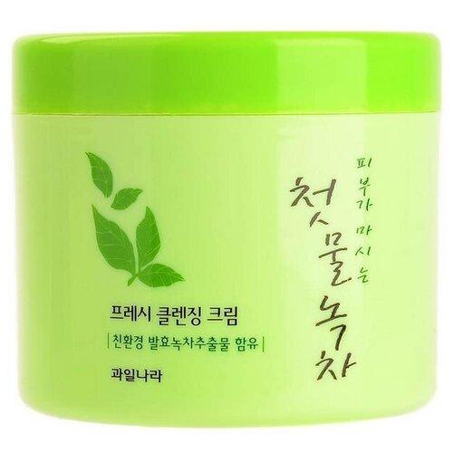Welcos Green Tea Крем для лица очищающий Green Tea Fresh Cleansing Cream (300 гр)