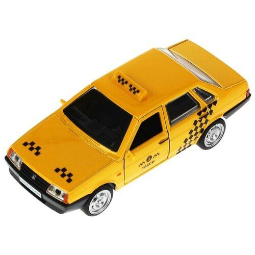 Модель машины Технопарк LADA-21099 Спутник, Такси, инерционная 21099-12ТАХ-YЕ