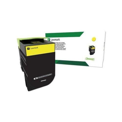 Фото - Картридж лазерный Lexmark 70C80YE желтый оригинальный картридж lexmark c5220ys для с522 524 желтый 3000стр