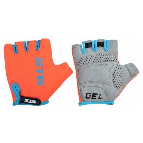 Перчатки STG, AL-03-325 летние,оранжево-черные,на