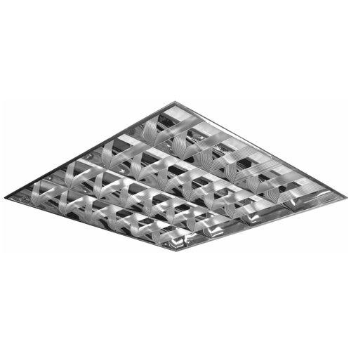 Светильник светодиодный армстронг, ксенон, 4 LED лампы х10 Вт, без ПРА, зеркальный растровый, 595×595×70