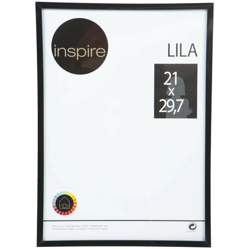 рамка inspire lila 21х29 7 см цвет белый Рамка Inspire Lila 21x29.7 см цвет чёрный