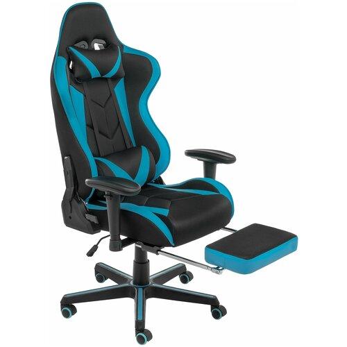 Компьютерное кресло Woodville Kano черное / голубое roketas голубое компьютерное кресло mebelvia