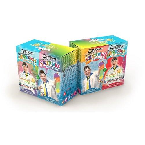 Купить Набор для опытов и экспериментов Висма Цветные червяки и лизуны, серия Юный химик 827, Наборы для исследований