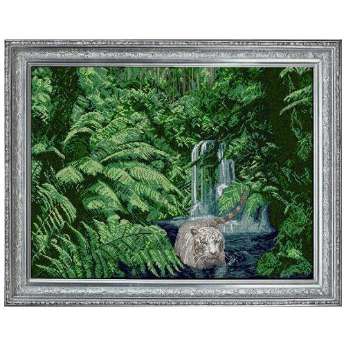 Набор для вышивания бисером краса И творчество арт.40213 Белый тигр 77,4х65,6 см