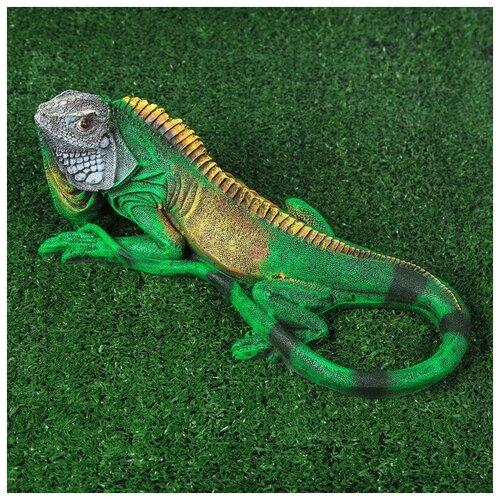 Садовая фигура Игуана фигура игуана 23х46х27см бронза серебро