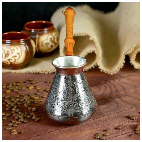 Турка для кофе медная «Роза», 0,5 л 2289422 по цене 1 126