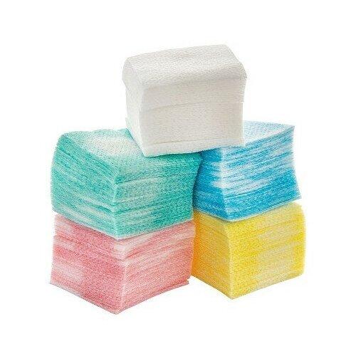Купить IRISK PROFESSIONAL Irisk, салфетки безворсовые в пакете (4х4см, случайный цвет), 750шт.