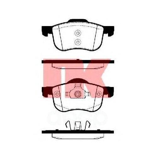 Колодки Тормозные Volvo S60/S70/S80/V70/Xc70 00- Перед. Nk арт. 224820