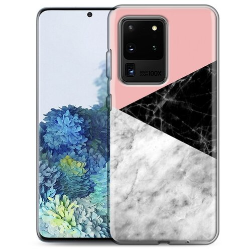 Дизайнерский силиконовый чехол для Samsung Galaxy S20 Ultra Мраморные тренды