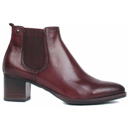 ботинки tamaris Ботинки челси Tamaris , размер 39 , бордовый