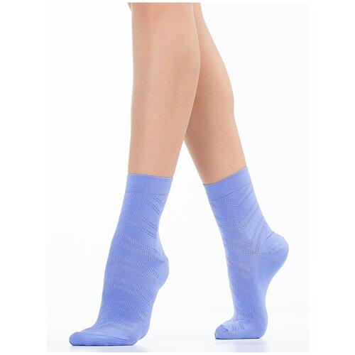 Носки Giulia WS2 AIR PA 005 размер 39-40, flower blue (Сиреневый)
