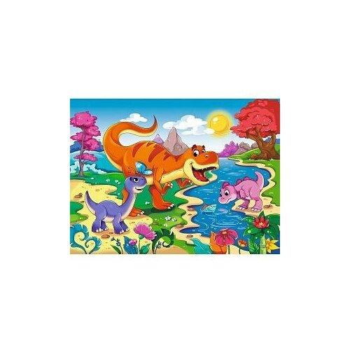 Фото - Пазл-рамка Рыжий кот Мир динозавров №5 пазл рыжий кот 3в1 мир динозавров 49 элементов