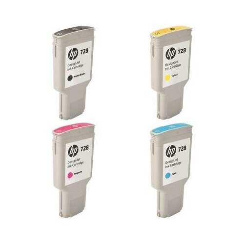 Фото - HP 728-690ML-INK-PACK Картриджи комплектом 728-Pack полный набор [выгода 1%] 690 мл для DesignJet T730, T830 hp 728 f9j67a голубой
