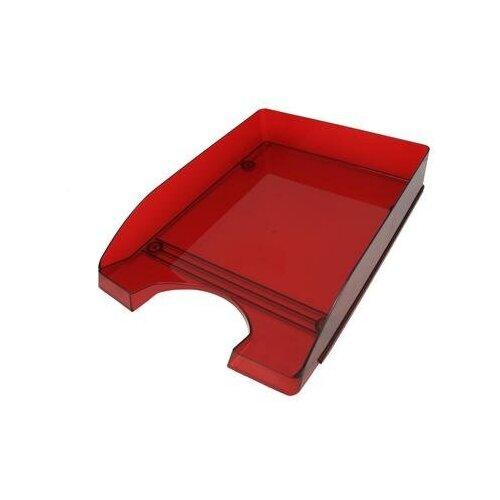 Купить Лоток для бумаг горизонтальный Attache Line прозрачный бордовый 2 шт., Лотки для бумаги