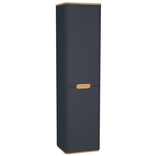 Пенал Vitra Sento 400х1575х350 подвесной, с корзиной для белья, петли слева, матовый антрацит 60856