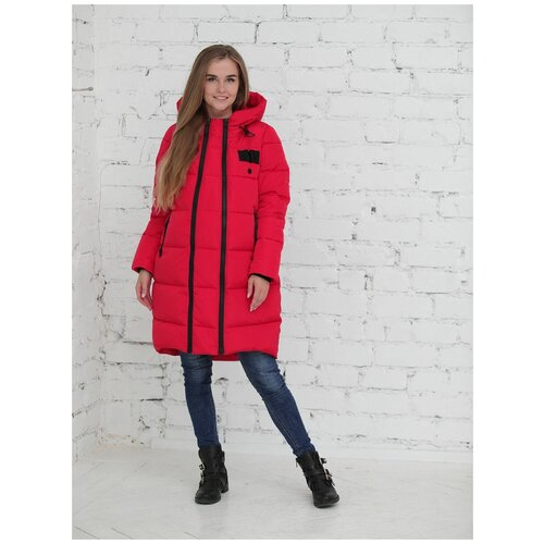Фэст Куртка зимняя 2в1 Фэст 10303 красная для беременных (46)