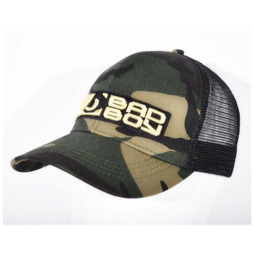 Бейсболка/Кепка Bad Boy 3D Logo с сеткой зеленый камуфляж/черный недорого