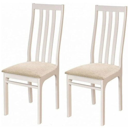 Комплект стульев ЧМФ С36 Белая эмаль / аполло беж 2 шт