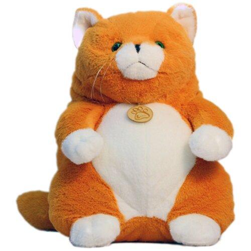 Мягкая игрушка Толстый кот 33см рыжий