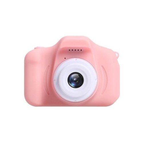 Фото - Детский цифровой фотоаппарат X2 противоударный в защитном корпусе Розовый / Kids Camera детский цифровой фотоаппарат собачка розовый kids camera pink