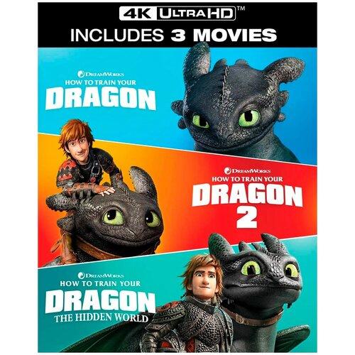Фото - Как приручить дракона. Трилогия (Blu-ray 4K Ultra HD) (3 Blu-ray) кловерфилд 10 blu ray