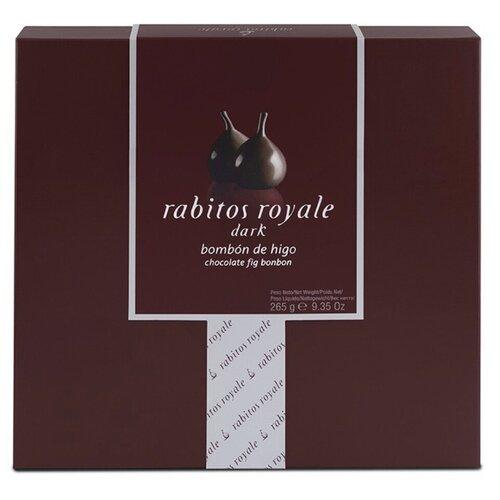 Конфеты инжир Rabitos Royale в темном шоколаде с трюфельной начинкой, 265 г, Испания
