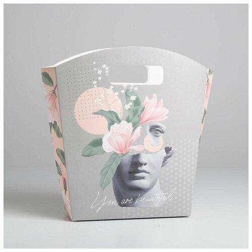 Фото - Пакет подарочный You are beautiful, 26 х 28 х 8 см пакет подарочный единорог на пончике а5 16 х 24 х 8 см