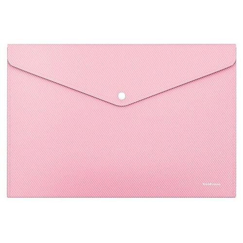 Папка-конверт на кнопке пластиковая Diagonal Pastel, непрозрачная, A4, ассорти недорого