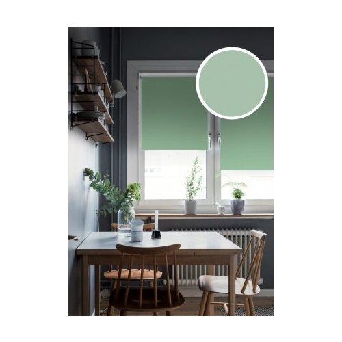 Рулонные шторы Blackout LUX, изумруд, 90х170 см