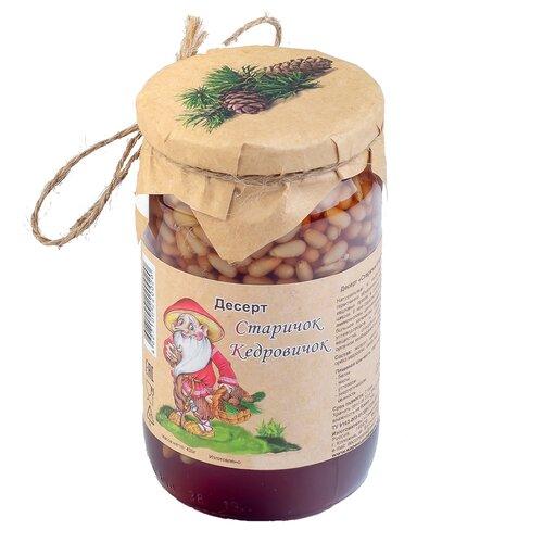 Кедровые орехи в сосновом сиропе Старичок Кедровичок Самсонов и партнеры, банка, 430 г