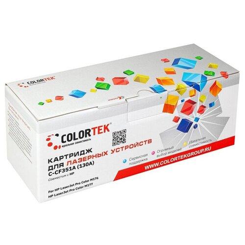 Фото - Картридж Colortek (схожий с HP CF351A) (130A) Cyan для HP LaserJet Pro Color /CLJP-M176/M177 картридж colortek схожий с hp cf351a 130a cyan для hp laserjet pro color cljp m176 m177