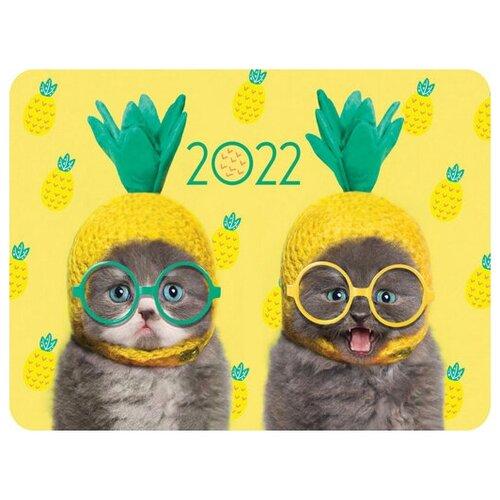 Календарь карманный 70х100мм Картон 300г/кв.м ламинация на 2022г серия -Прикольные животные-