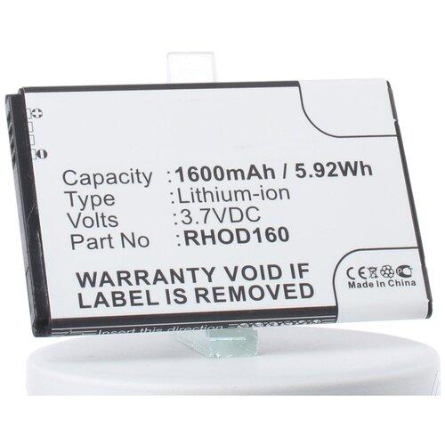 Аккумуляторная батарея iBatt 1600mAh для HTC T7388, Rhodium 300, T8388, Whitestone, Whitestone 100, для T-Mobile MDA Vario V, Wing II, для Verizon VX6875