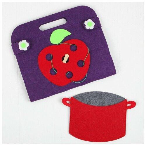 Сумка-игралка Овощи, фрукты и ягоды настольная игра smiledecor сумка игралка овощи фрукты и ягоды
