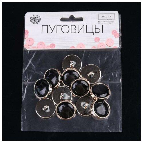 Набор пуговиц Арт Узор 2806374 25 мм, 12 шт. черный по цене 236