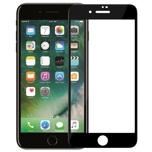 Полноэкранное защитное стекло для телефона Apple iPhone 6 и iPhone 6S / Ударопрочное стекло на смартфон Эпл Айфон 6 и Айфон 6С / Закаленное стекло с олеофобным покрытием на весь экран / Full Glue (Черный)