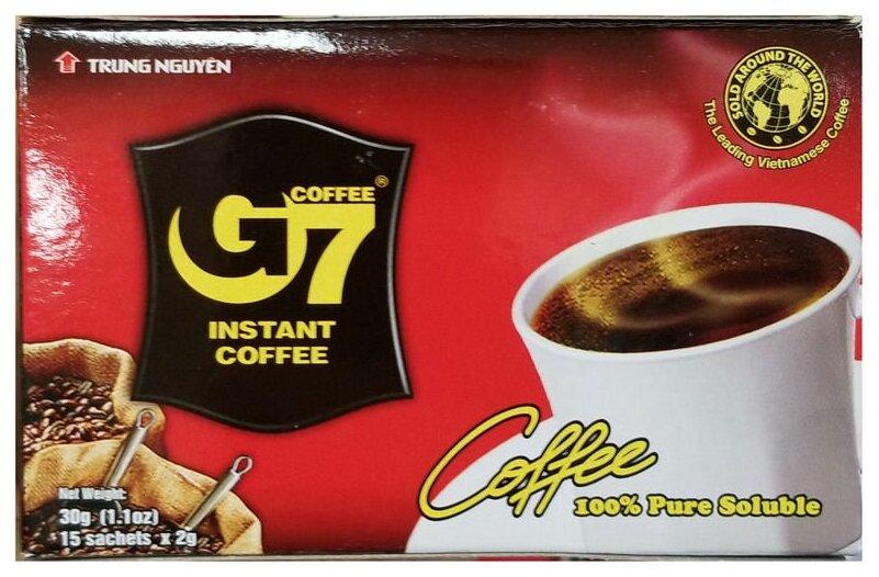 Растворимый кофе Trung Nguyen G7 черный, в пакетиках — купить по выгодной цене на Яндекс.Маркете