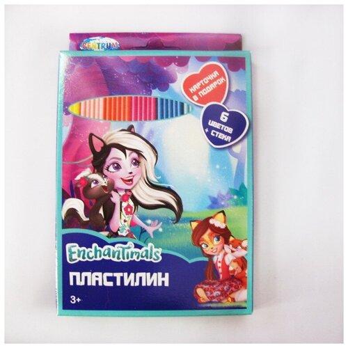 Купить Пластилин Enchantimals , 6 цветов, 120 гр, стек, картинка, CENTRUM, Пластилин и масса для лепки