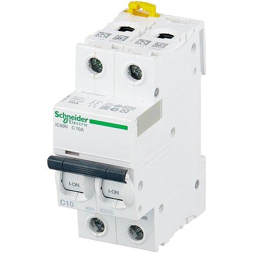 Фото - Автоматический выключатель Schneider Electric Acti 9 iC60N 2P (C) 6кА 10 А автоматический выключатель schneider electric acti 9 ic60n 3p c 6ка 40 а