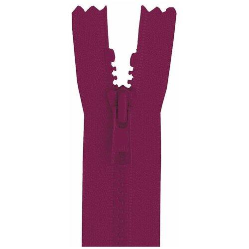 YKK Молния 4335956/60, 60 см, бордово-фиолетовый/бордово-фиолетовый ykk молния тракторная разъемная 4335956 75 75 см бордово фиолетовый бордово фиолетовый